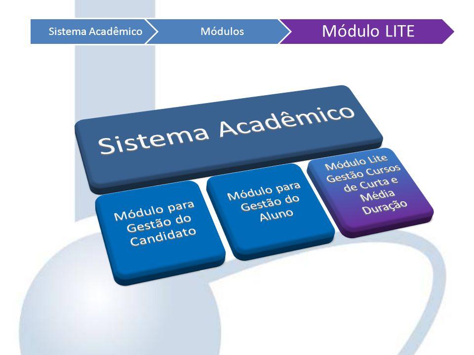 Módulo LITE Sistema Acadêmico Módulos Sistema Acadêmico