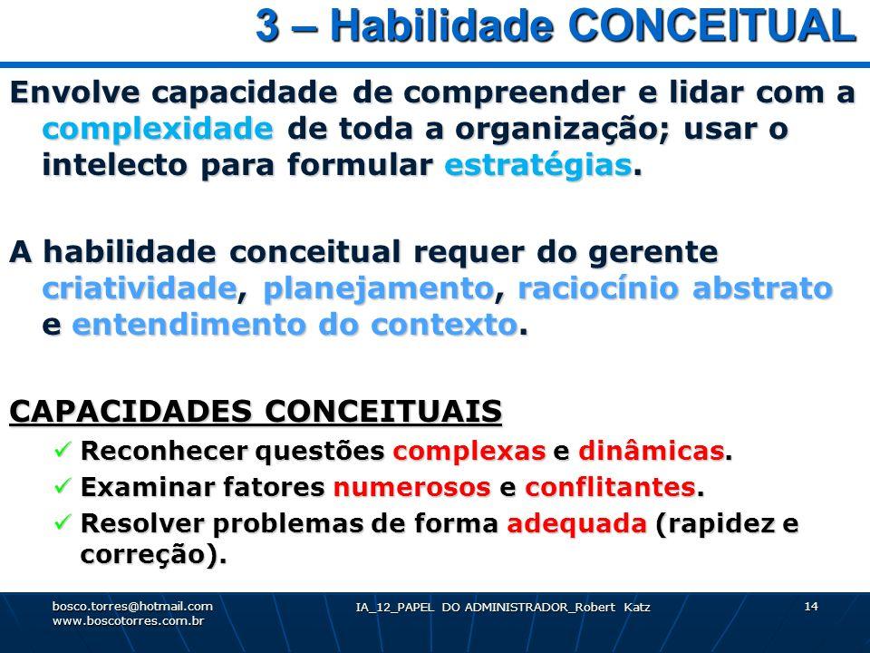 3 – Habilidade CONCEITUAL