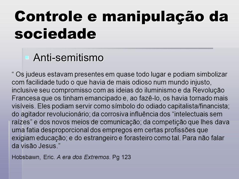 Controle e manipulação da sociedade