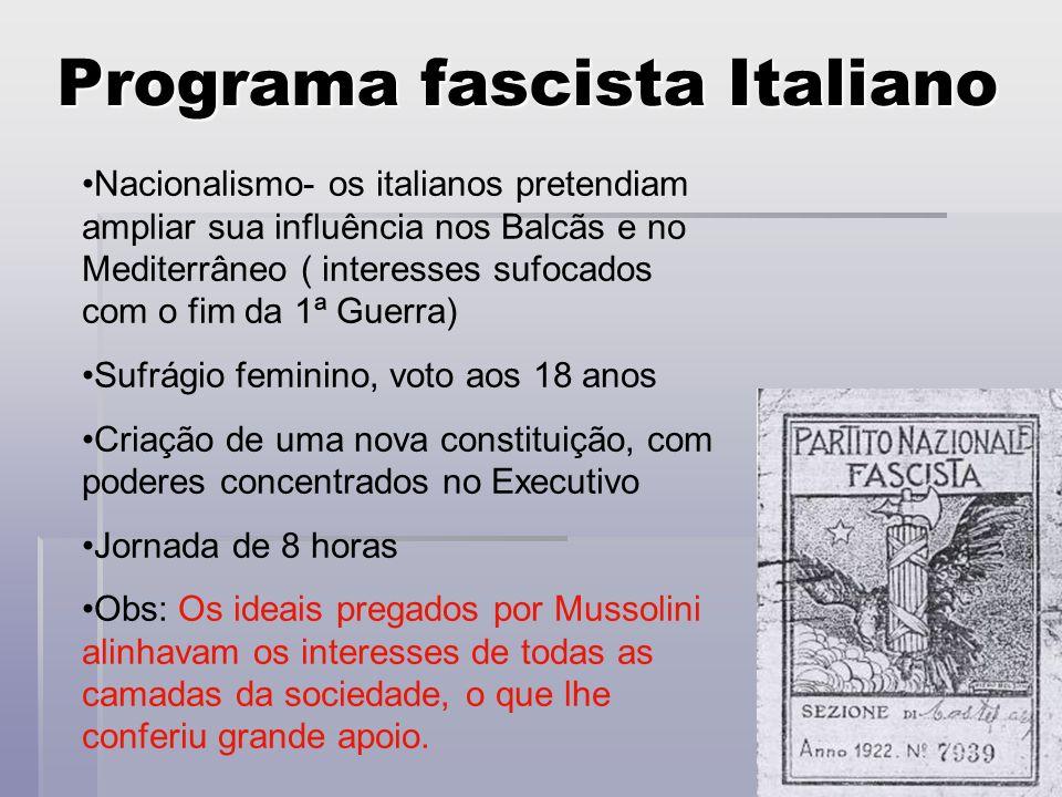 Programa fascista Italiano