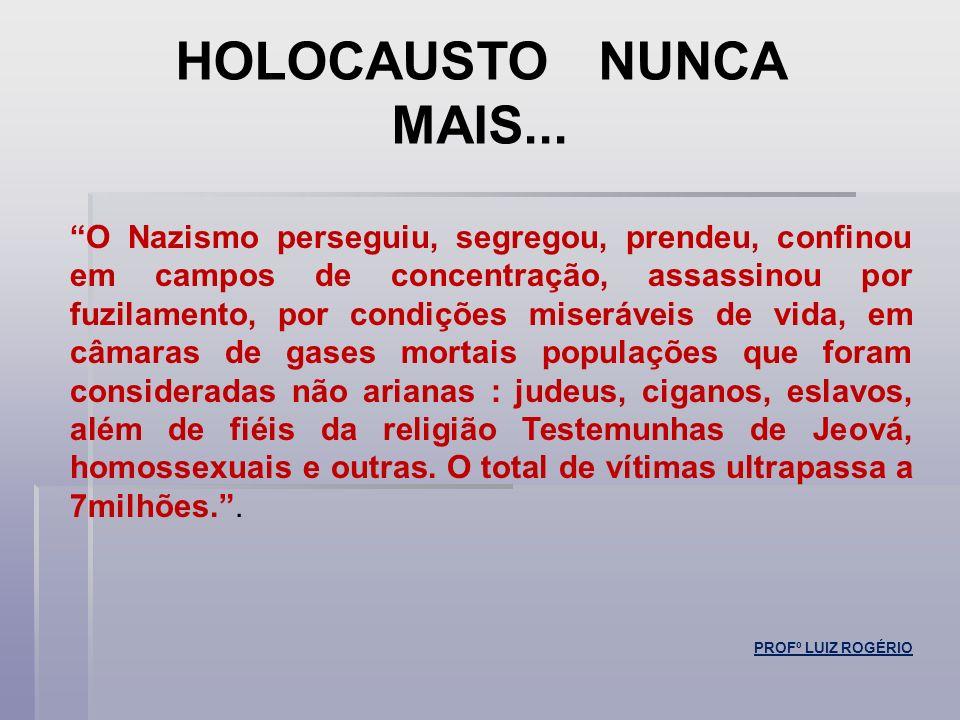 HOLOCAUSTO NUNCA MAIS...