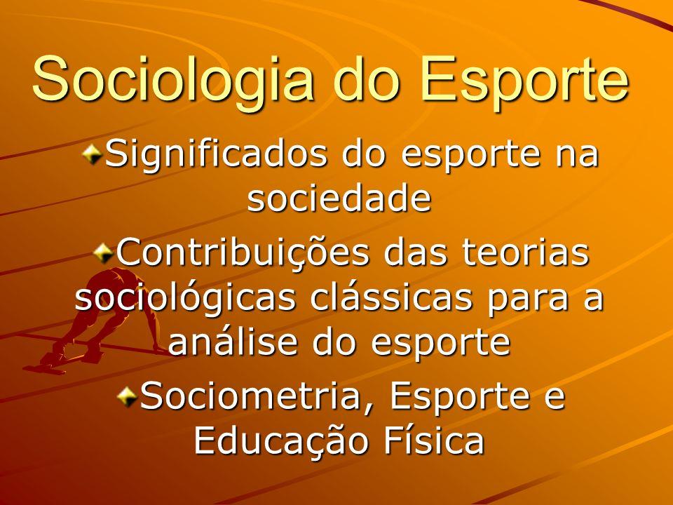 Sociologia do Esporte Significados do esporte na sociedade