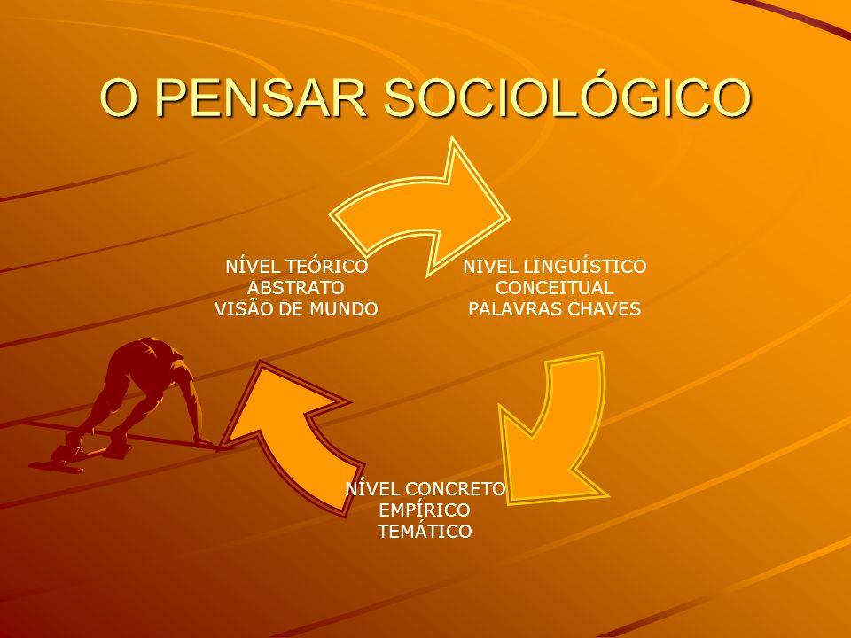 O PENSAR SOCIOLÓGICO
