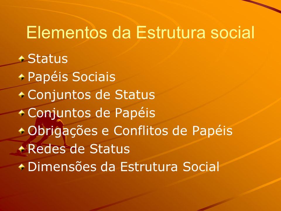 Elementos da Estrutura social