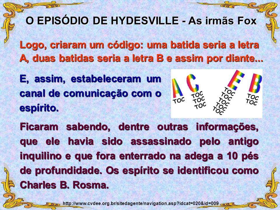 O EPISÓDIO DE HYDESVILLE - As irmãs Fox