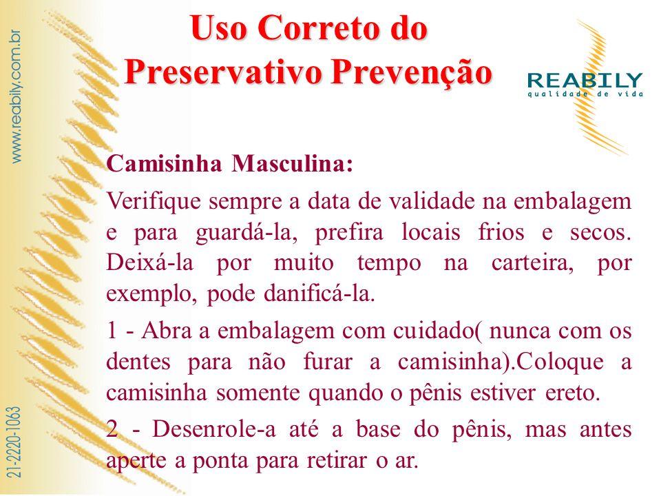 Uso Correto do Preservativo Prevenção