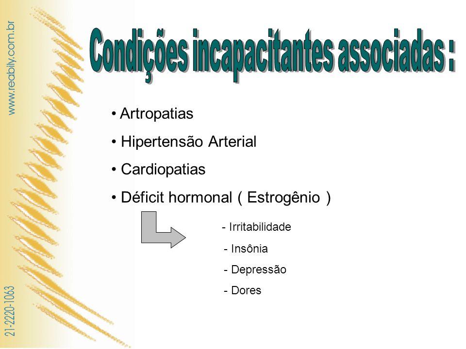 Condições incapacitantes associadas :