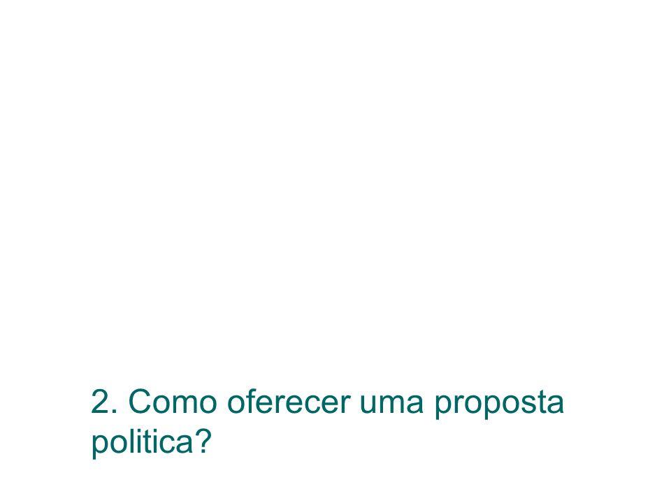 2. Como oferecer uma proposta politica