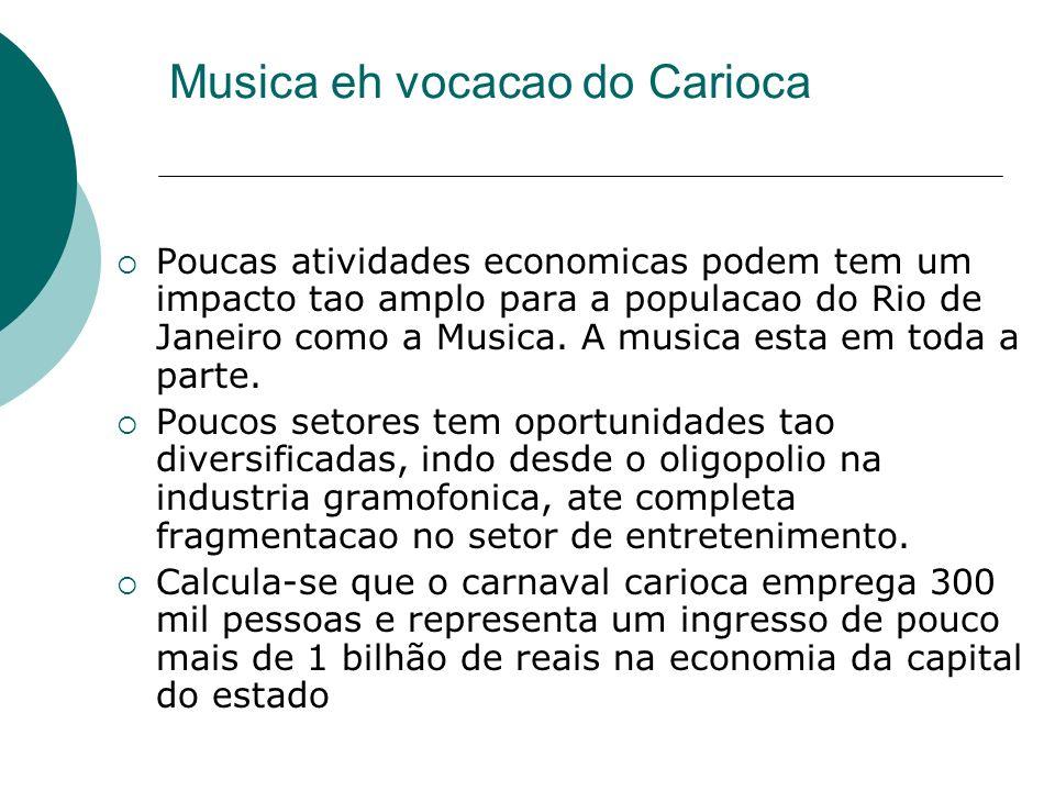 Musica eh vocacao do Carioca