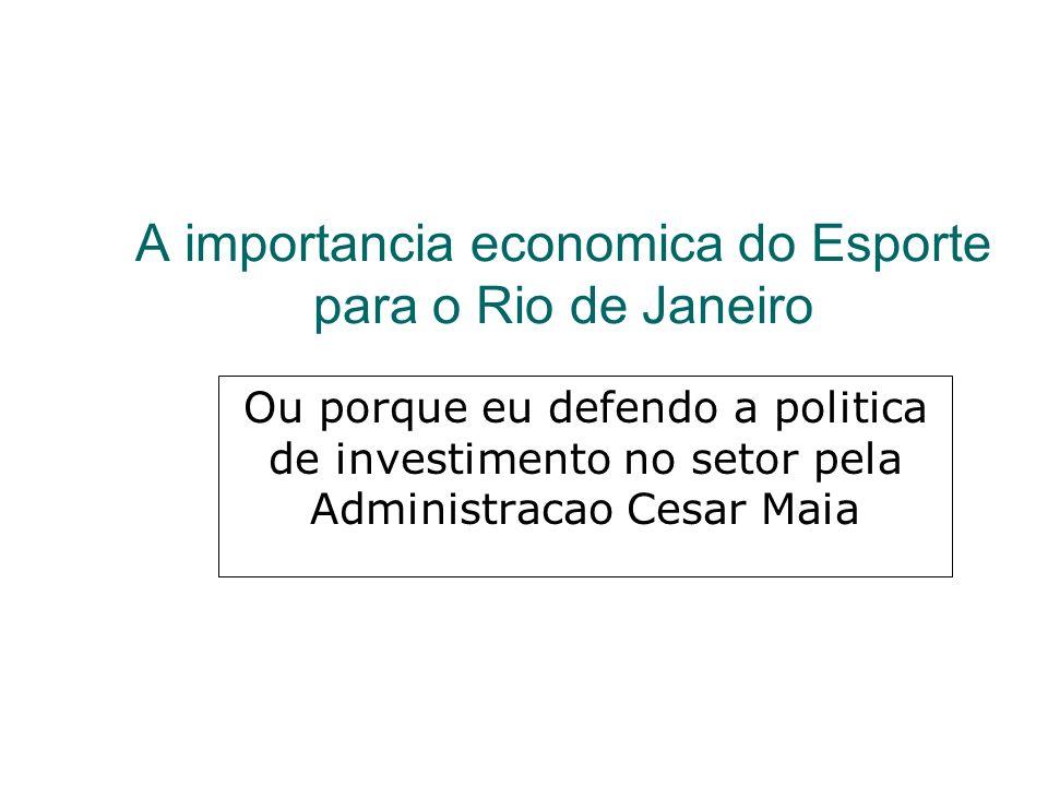 A importancia economica do Esporte para o Rio de Janeiro