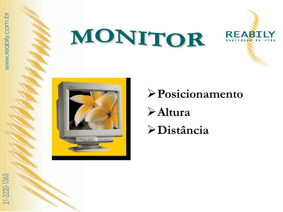 MONITOR Posicionamento Altura Distância