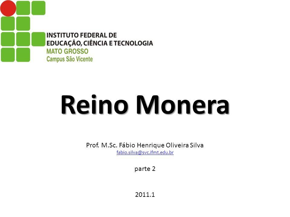 Reino Monera Prof. M. Sc. Fábio Henrique Oliveira Silva fabio