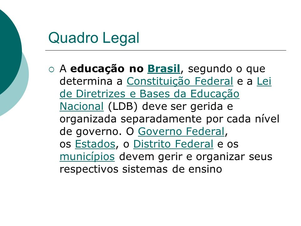 Quadro Legal