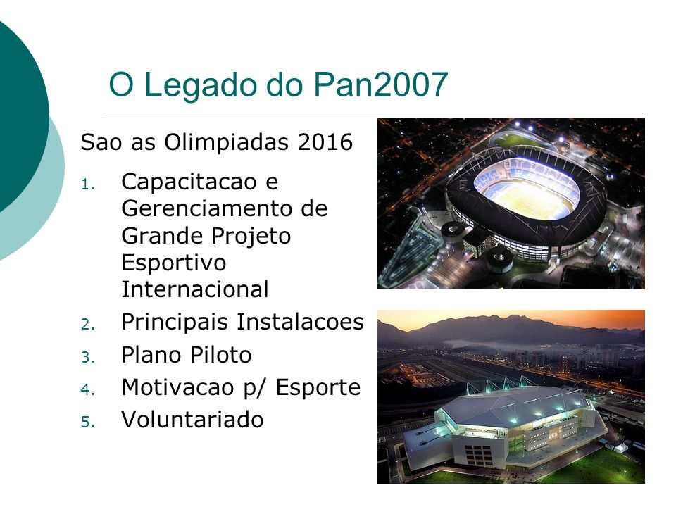 O Legado do Pan2007 Sao as Olimpiadas 2016