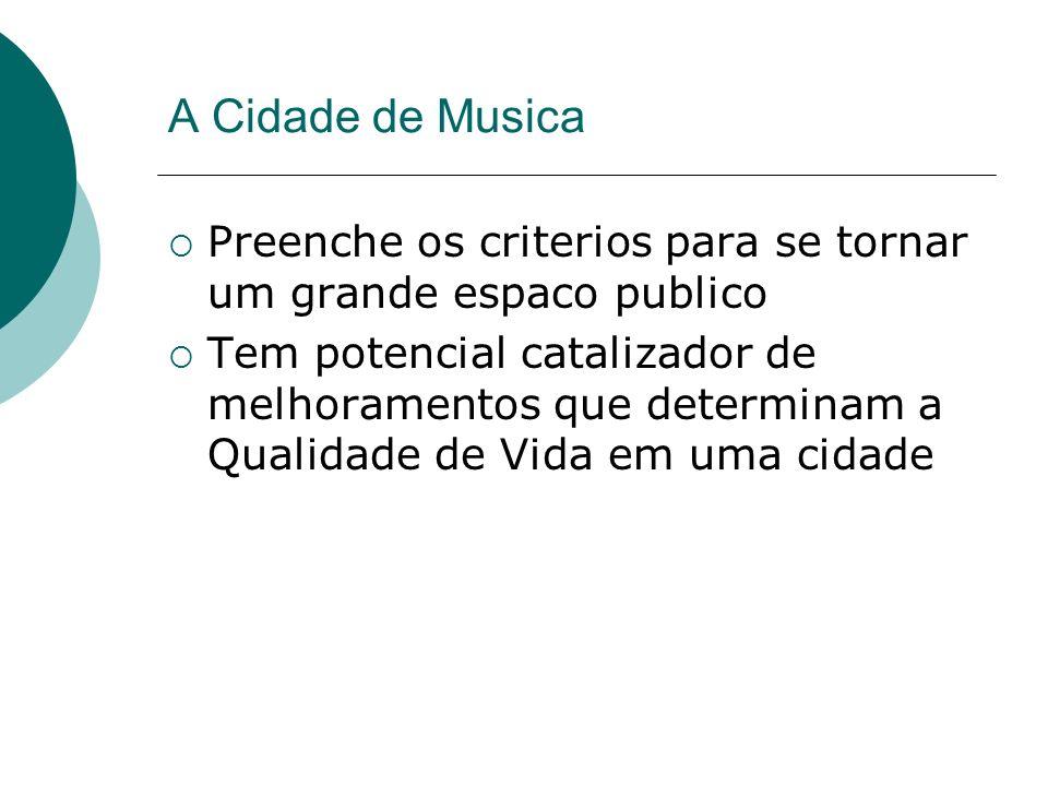 A Cidade de Musica Preenche os criterios para se tornar um grande espaco publico.