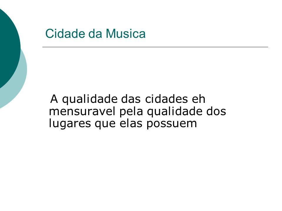 Cidade da Musica A qualidade das cidades eh mensuravel pela qualidade dos lugares que elas possuem