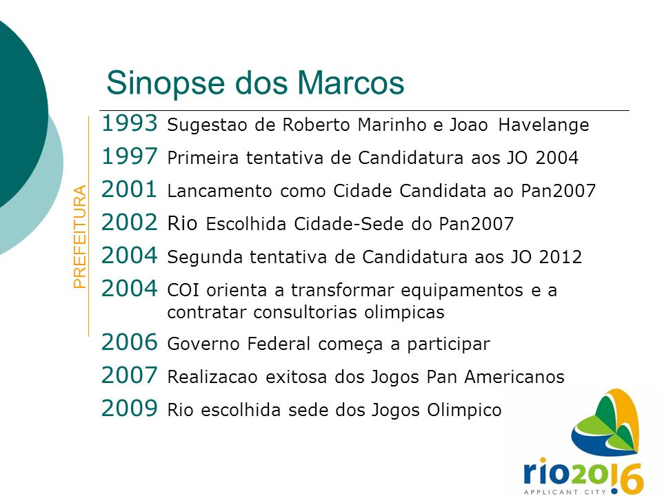 Sinopse dos Marcos 1993 Sugestao de Roberto Marinho e Joao Havelange