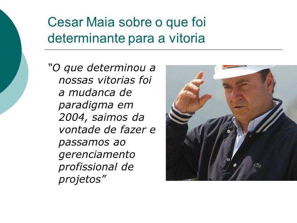 Cesar Maia sobre o que foi determinante para a vitoria
