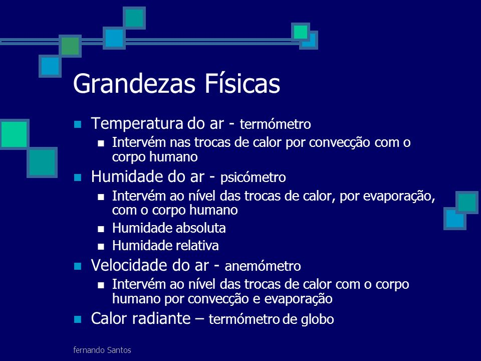 Grandezas Físicas Temperatura do ar - termómetro