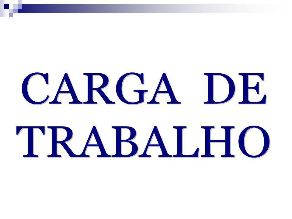 CARGA DE TRABALHO