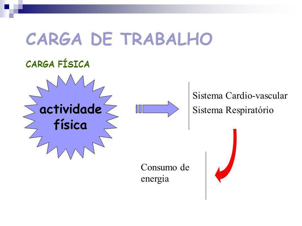 CARGA DE TRABALHO actividade física Sistema Cardio-vascular