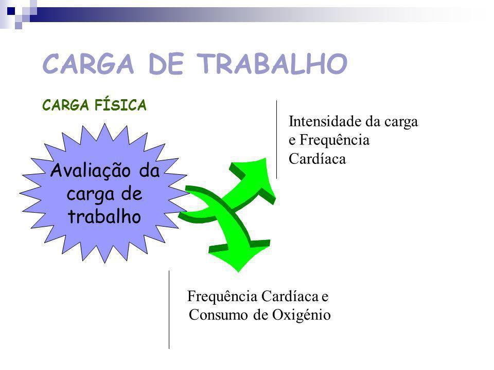 CARGA DE TRABALHO Avaliação da carga de trabalho