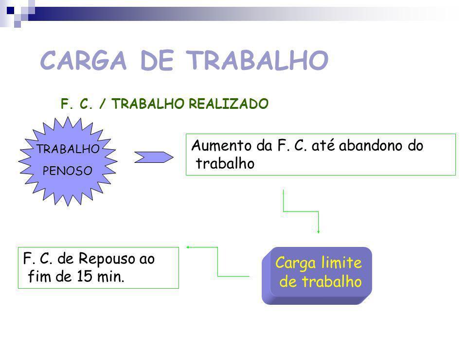 CARGA DE TRABALHO Carga limite de trabalho