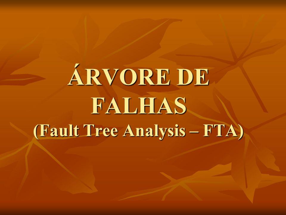 ÁRVORE DE FALHAS (Fault Tree Analysis – FTA)