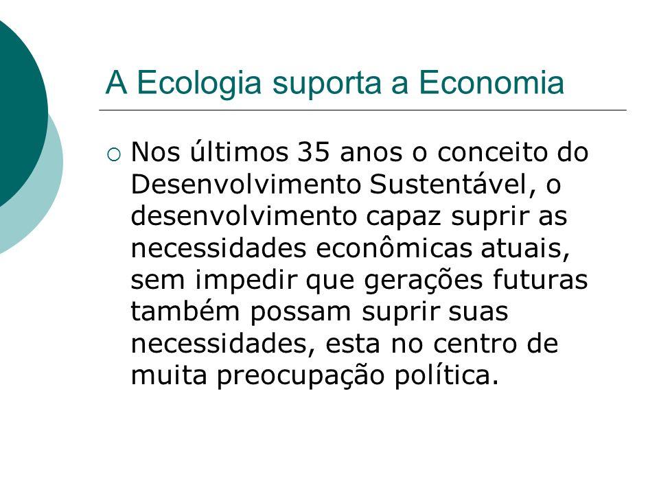 A Ecologia suporta a Economia