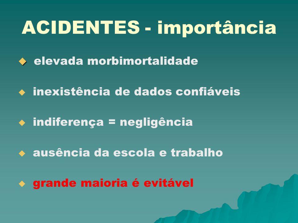 ACIDENTES - importância
