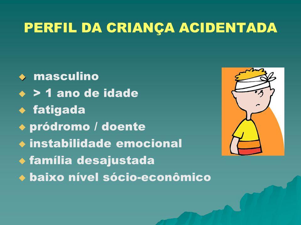 PERFIL DA CRIANÇA ACIDENTADA