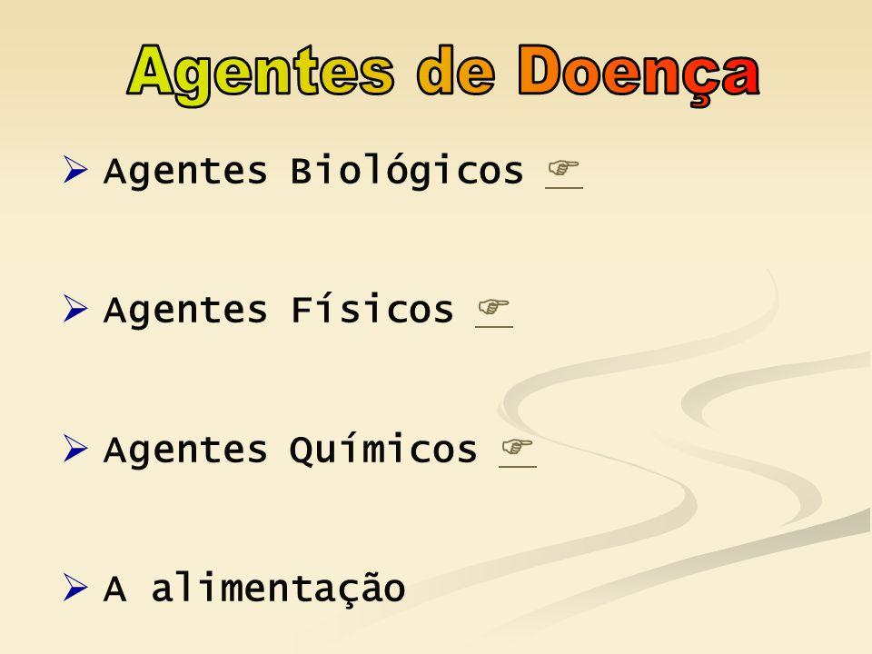 Agentes de Doença Agentes Biológicos  Agentes Físicos 