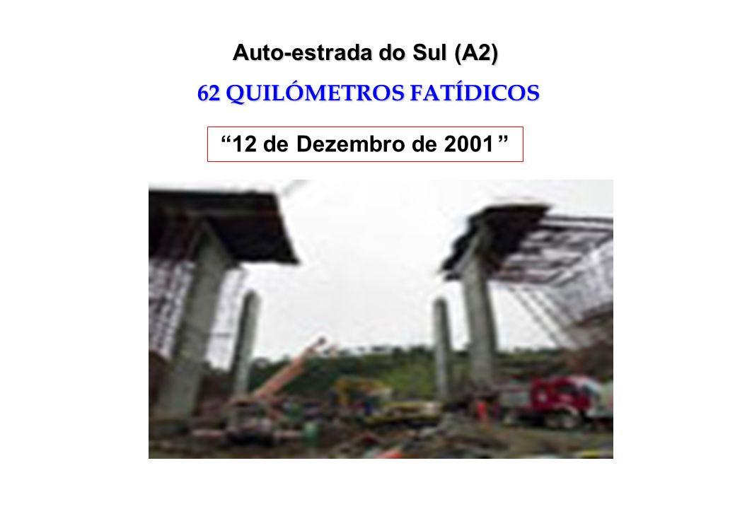 Auto-estrada do Sul (A2) 62 QUILÓMETROS FATÍDICOS