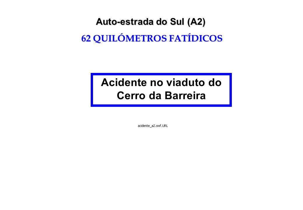Acidente no viaduto do Cerro da Barreira