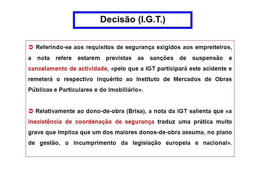 Decisão (I.G.T.)