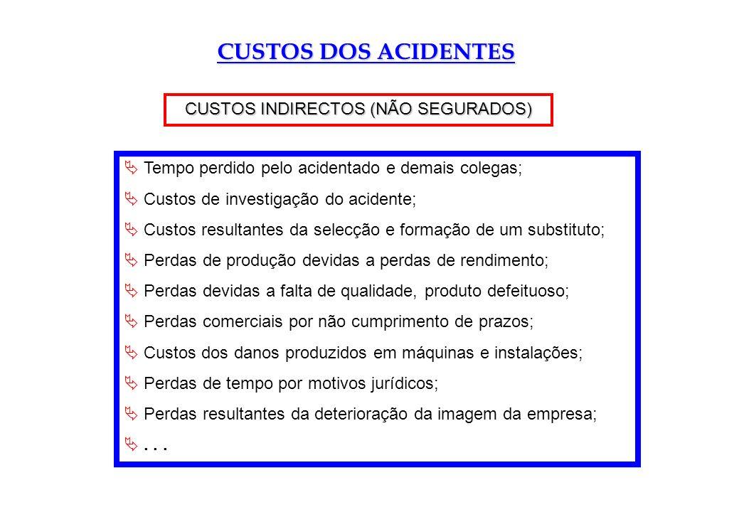 CUSTOS INDIRECTOS (NÃO SEGURADOS)