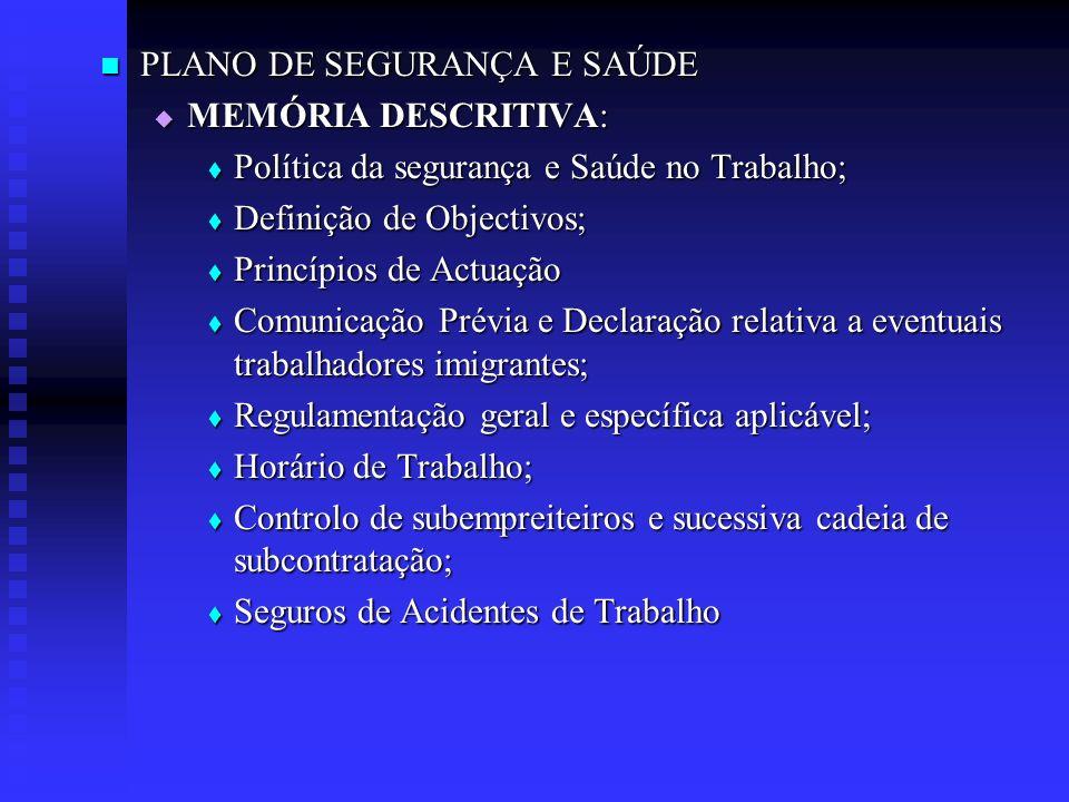 PLANO DE SEGURANÇA E SAÚDE
