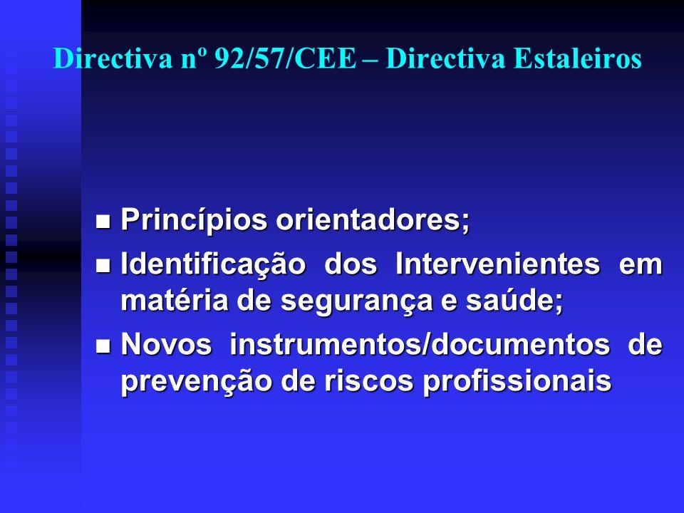 Directiva nº 92/57/CEE – Directiva Estaleiros