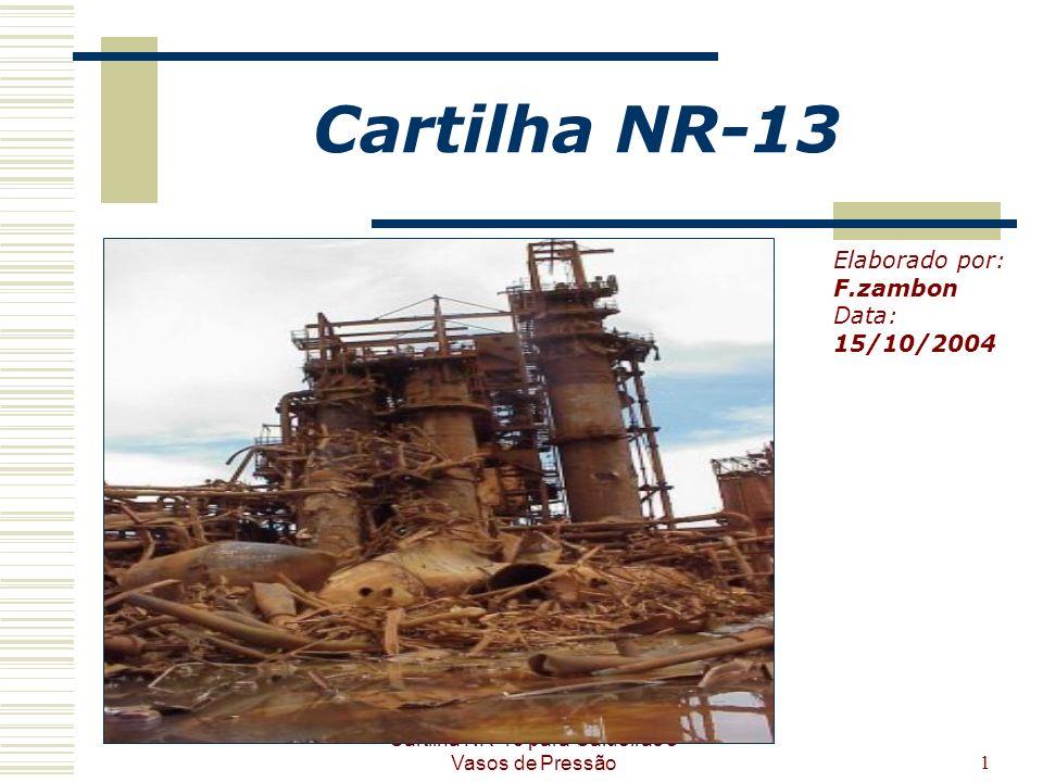 Cartilha NR-13 para Caldeiras e Vasos de Pressão