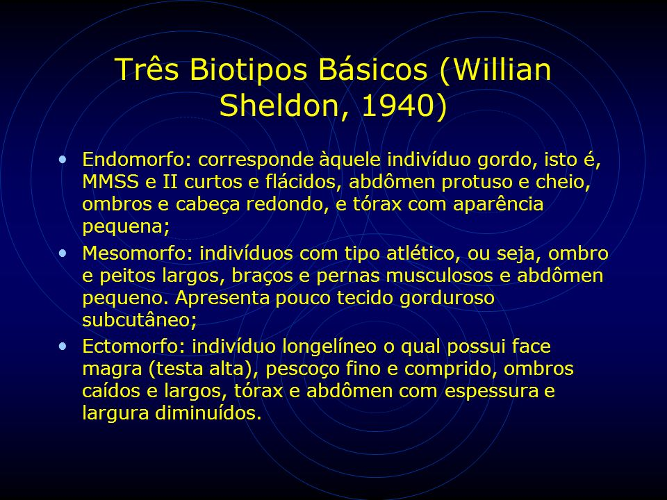 Três Biotipos Básicos (Willian Sheldon, 1940)