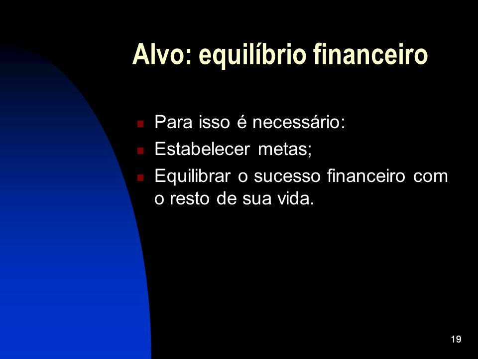 Alvo: equilíbrio financeiro