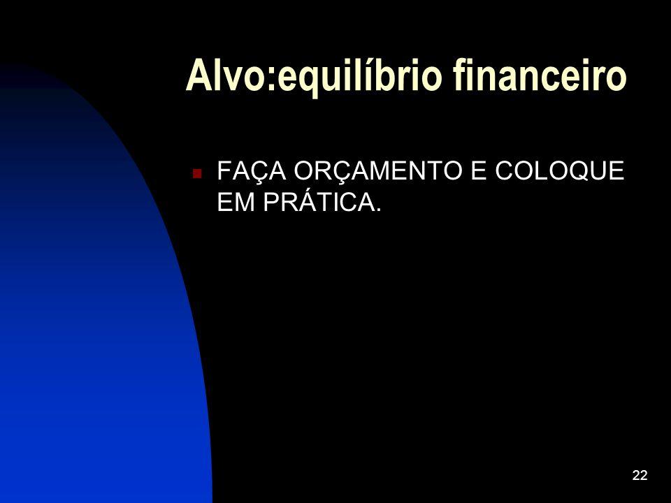 Alvo:equilíbrio financeiro