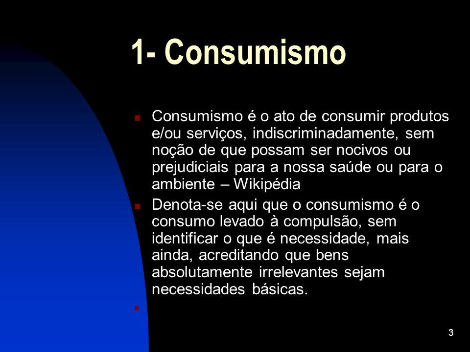 1- Consumismo