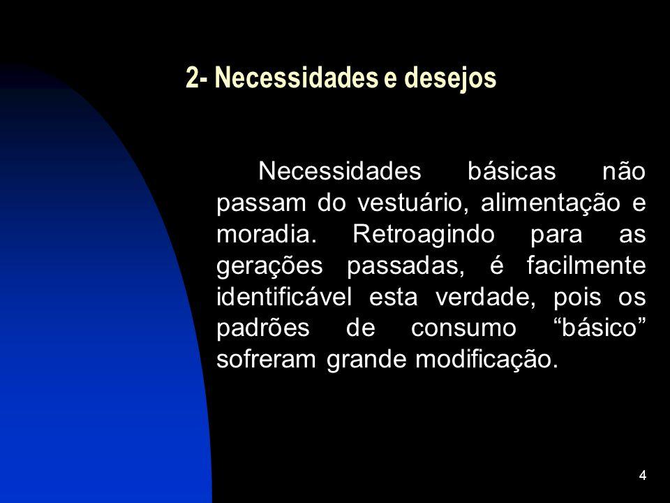 2- Necessidades e desejos