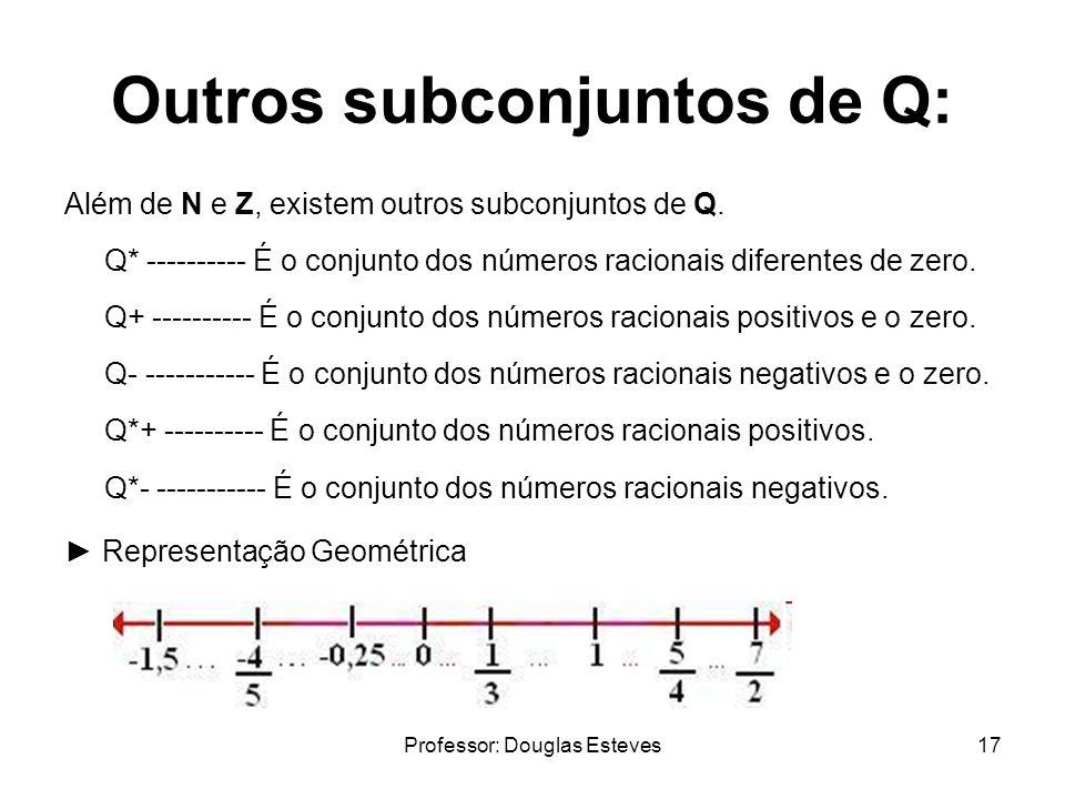 Outros subconjuntos de Q: