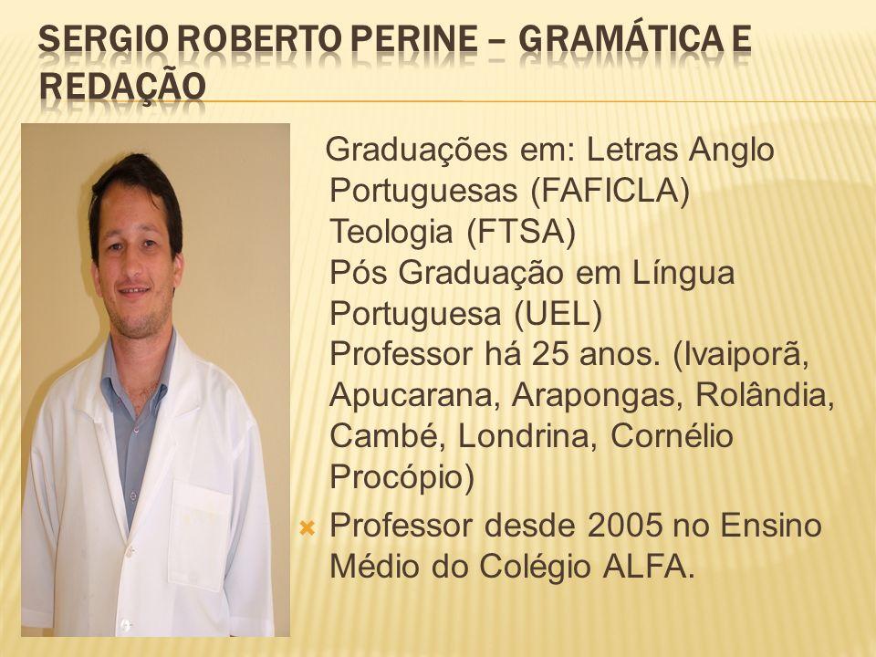 SERGIO ROBERTO PERINE – Gramática e Redação