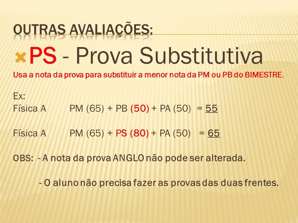 PS - Prova Substitutiva