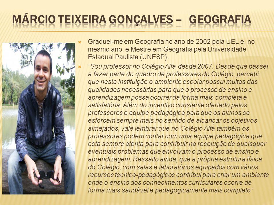 Márcio Teixeira Gonçalves – Geografia