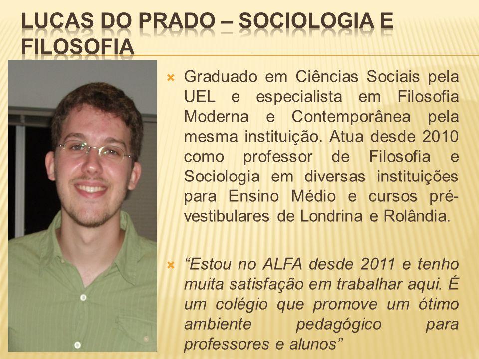 Lucas do Prado – Sociologia e Filosofia