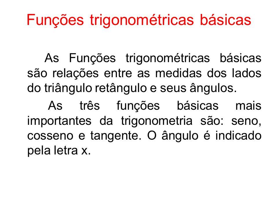 Funções trigonométricas básicas
